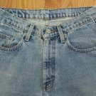 POLO MEN'S SIZE 29 X 30 JEANS LIGHT BLUE STONE WASHED LOOSE FIT 80'S STRAIGHT LEGS DISTRESSED