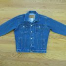 FADED GLORY BOY'S SIZE L JEAN JACKET MED BLUE STONE WASHED GIRL'S UNISEX TRUCKER, COUNTRY COWBOY