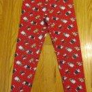 AMERICAN WEEKEND GIRL'S SIZE 7 / 8 LEGGINGS RED CHRISTMAS WINTER SNOWMAN VINTAGE