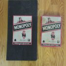 VINTAGE MONOPOLY BOARD GAME 1952 EDITION PARKER BROTHERS WOODEN HOUSES POPULAR EDITION