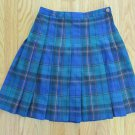 NEW MOVES GIRL'S SIZE 10 SKIRT BLUE & GREEN PLAID PLEATED CHRISTMAS HOLIDAY