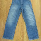 GAP MEN'S SIZE 28 X 30 JEANS med. BLUE ASIAN DENIM BOY'S WORKER STRAIGHT LEGS DISTRESSED