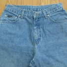 RIVETED LEE WOMEN'S SIZE  10 M JEANS MED BLUE STONE WASHED STRAIGHT LEGS