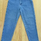LEE 1889 WOMEN'S SIZE 10 P JEANS MED BLUE STONE WASHED RELAXED HIGH WAIST MOM ELASTIC SIDES
