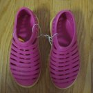 COPPERTONE GIRL'S SIZE S (11 - 12) SHOES PINK, YELLOW FLATS WATER NWT SIMILAR TO CROCS