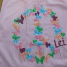lei WOMEN'S JUNIORS SIZE XXL (19) T-SHIRT PINK W/ PEACE, HEARTS GRAPHIC NWT