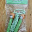 TOYS JUMP ROPE KIDS AGES 6 + GREEN BEAR WOOD HANDLES SKIPPING JUMPING PLAY SPORT EXERCISE NEW