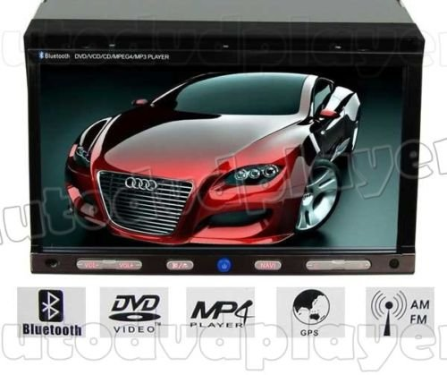 """7"""" 2 din Car DVD Player with GPS Navigation System iPod"""