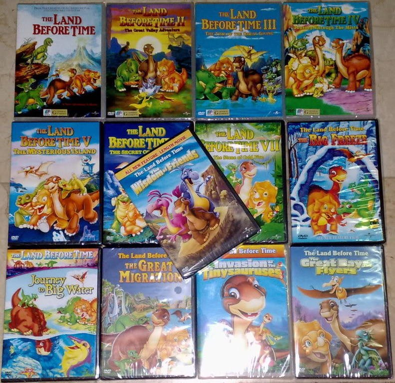 THE LAND BEFORE TIME Complete Set Volume 1 - 13 DVD NEW
