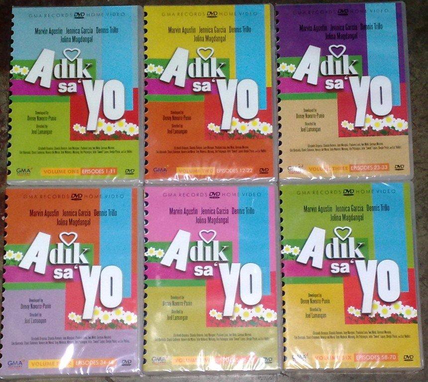 ADIK SA YO DVD vol 1 - 6 Complete 70 Episodes BRAND NEW