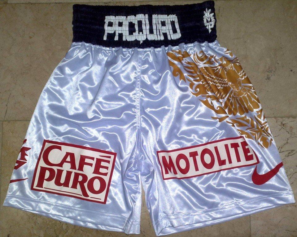 MANNY PACQUIAO Boxing Trunks vs. HATTON sz L New