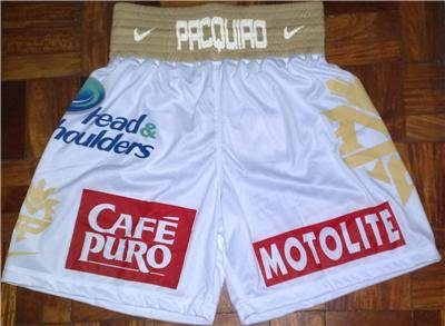 MANNY PACQUIAO Boxing Trunks vs. MARGARITO sz L New
