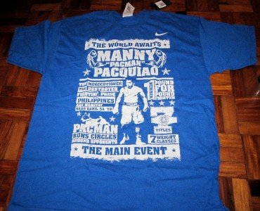 NIKE MANNY PACQUIAO Training Shirt sz M L XL 2XL Mosley