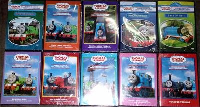 THOMAS & FRIENDS Lot of 10 DVD 55 Episodes! NEW!