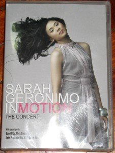 SARAH GERONIMO In Motion Concert DVD Philippines SEALED