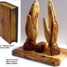 Hand carved Olive Wood Bible holder
