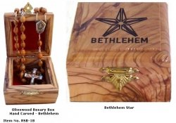 Bethlehem Star Rosary Box
