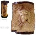 Christ- Carved In Natural Olive Wood