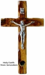 Crucifix- Pewter With Holy Earth