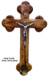 14 Stations Crucifix With Holy Earth
