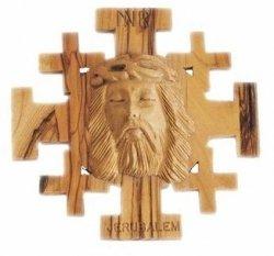 Jerusalem Crucifix With Jesus' Face