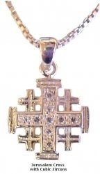 Jerusalem Cross With Zircons
