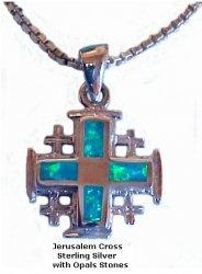 Jerusalem Cross With Opal Stones