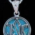 Jesus and Star of David with Opal Necklace