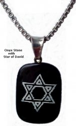 Onyx Necklace with Star of David