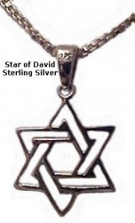 Entwind Small Silver Star of David