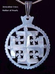 Moher of Pearls Jerusalem Cross