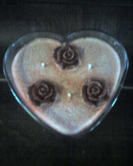 *Rose* Scented Candle **Heart Shaped**