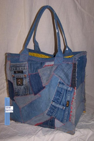 Re-use your Jeans Grocery Bag