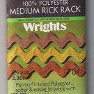 Vintage Rick Rack trim in Gold Yellow