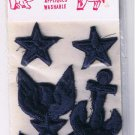 Navy Embroidered Applique Patches