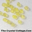 (20) Swarovski 4mm Bicone Crystal Beads~Citrine~