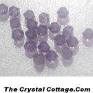 (20) Swarovski 4mm Bicone Crystal Beads~ Lilac~