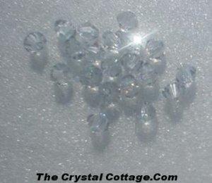 (20) Swarovski 4mm Bicone Crystal Beads~ Shadow Crystal~