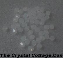(20) Swarovski 4mm Bicone Crystal Beads~ White Opal~