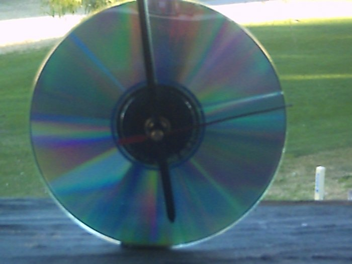 Recycled CD's Clock