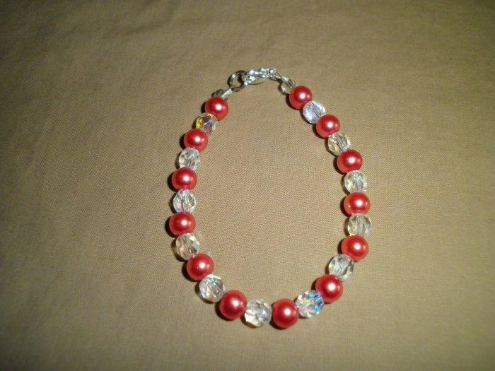 Pretty In Pink Pearl Bracelet