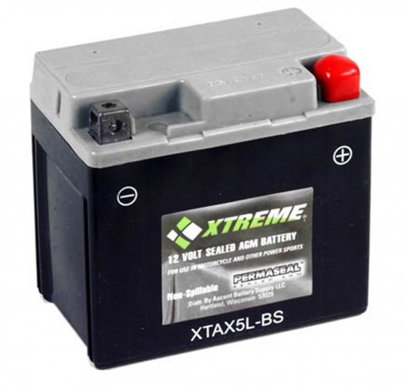XTAX5L-BS Xtreme AGM Powersport Battery