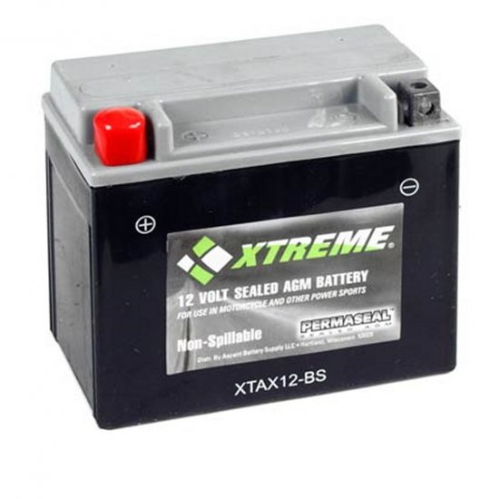 XTAX12-BS Xtreme AGM Powersport Battery