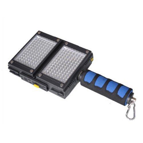 HDV-Z96 (2pcs) 5600K LED Video Lights for DV Camcorder Lighting + Spongy Handle