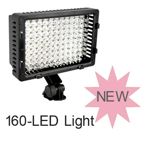 CN-160 LED 9.6W 5400K Video Light for Camera Video Camcorder Lighting