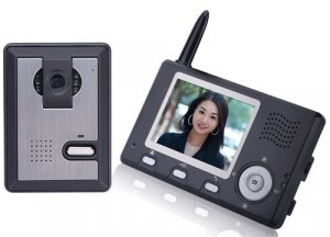 Home Security Wireless Video Camera Phone Intercom Sys wireless 2.4GHz radio band Hands free
