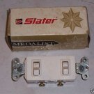 Slater Medalist Double Single Pole Switch White