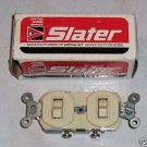 Slater Double Single Pole Switch 15amp 125volt Ivory
