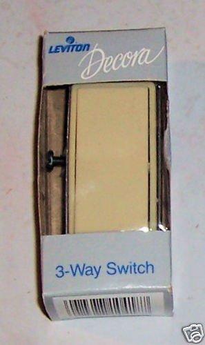 Leviton Decora 3-Way Grounding Rocker Switch Ivory