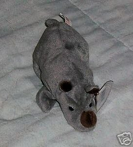 Spike the Rhino Ty Beanie Babies Collectible